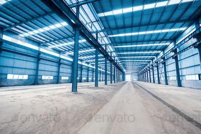 empty steel structure building