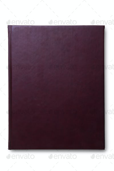 Brown Leather Agenda isolated on top view