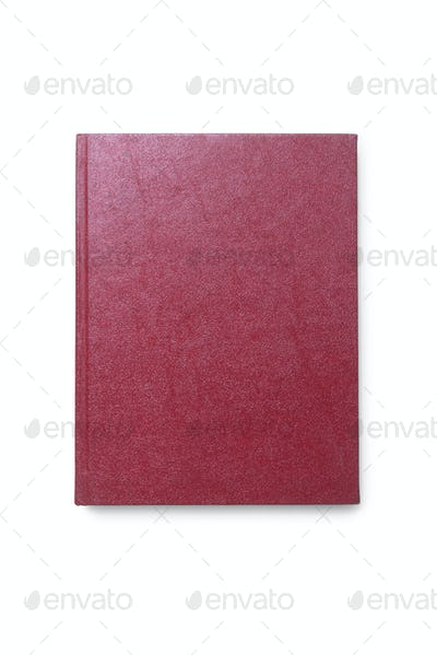 Dark Red Agenda Isolated top view