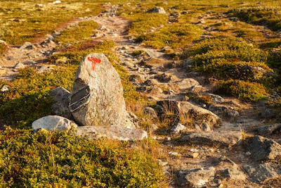 T sign turistforening mountain landscape Norway national park Do