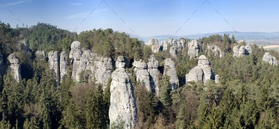Panorama of the rock town in the Bohemian Paradise