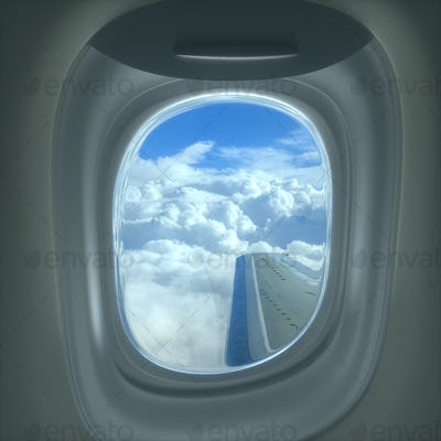 Airplane Window Travel