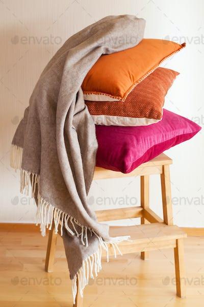 colorful cushion throw cozy home mood