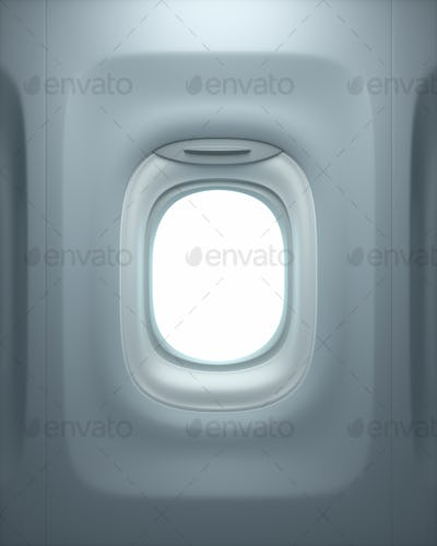 Airplane Window With Clipping Path