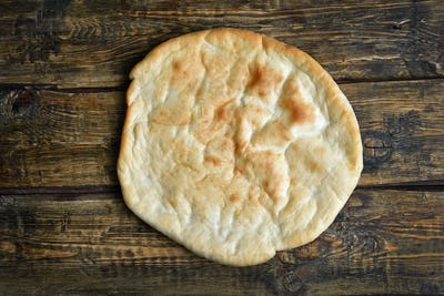 Naan bread, top view