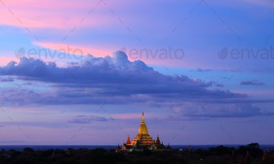 ananda temple at twilight, Bagan, Myanmar
