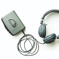 Vintage walkman and headphones.