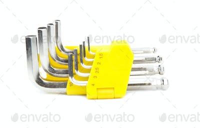 hex key set isolated