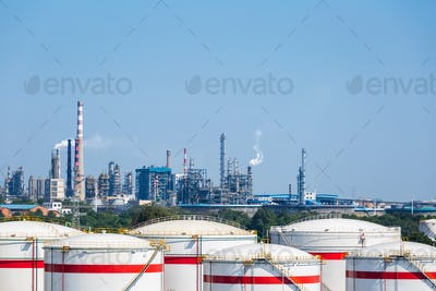 petrochemical oil refinery
