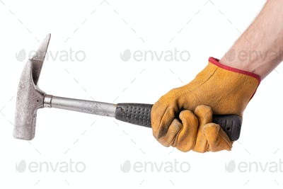 used hammer in hand