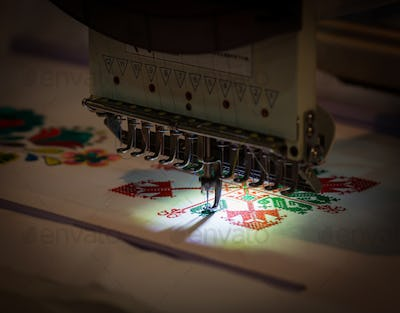 Professional sewing machine embroidery textile