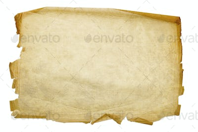 Old grunge paper background isolated on white