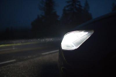 Clean Bright Car Headlights