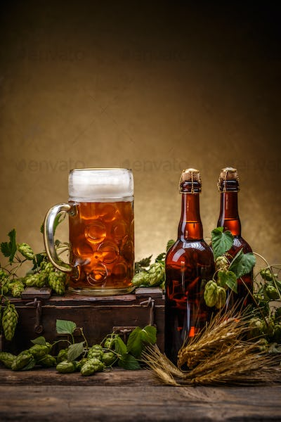 Beer with brewery hop