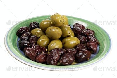 Olives on Plate