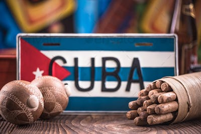 Travel to Cuba concept, related items