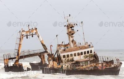 Shipwreck of the Zeila near Henties Bay