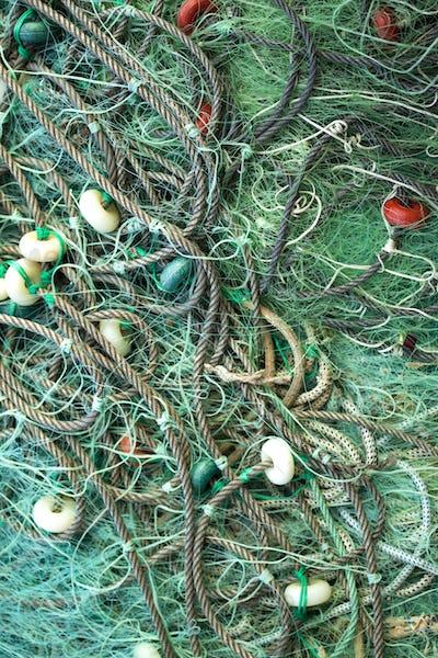 Green fishing nets