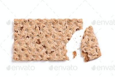 bitten crispbread