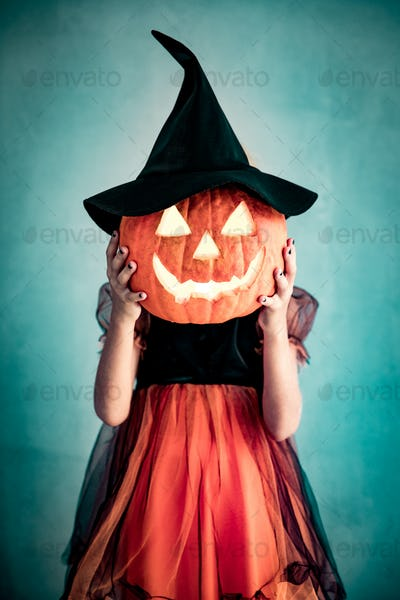 Halloween Pumpkin Autumn Holiday Concept