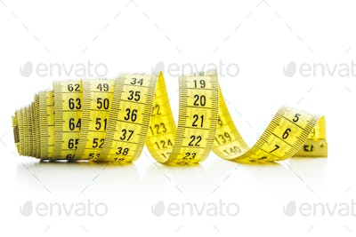 The yellow measuring tape.