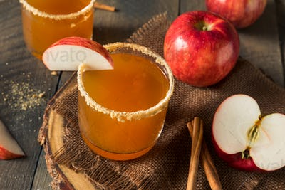 Homemade Rustic Apple Cider Pie Cocktail