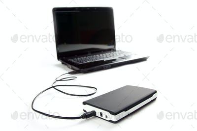 external hard disc connect to laptop