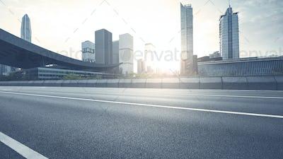 empty asphalt road