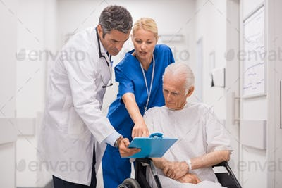 Medical staff with patient