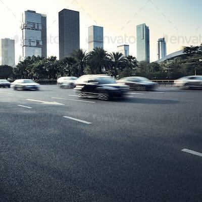 Asphalt pavement urban road