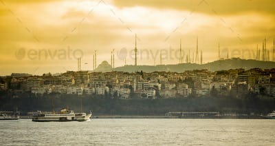 Panorama of Istanbul in early morning