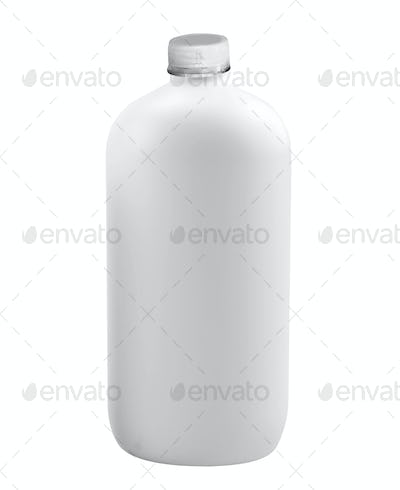 empty glass bottle with cap