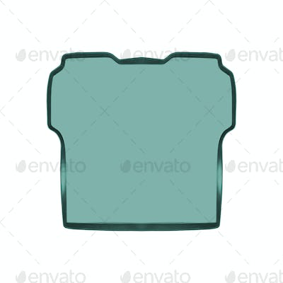 Empty baking tray isolated