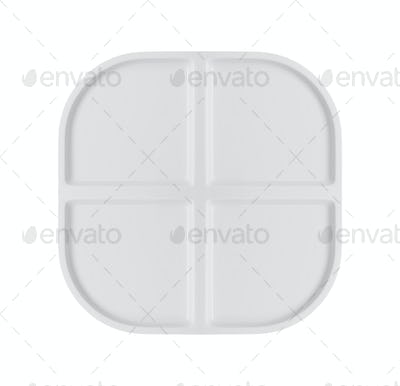 Empty baking tray isolated on white background