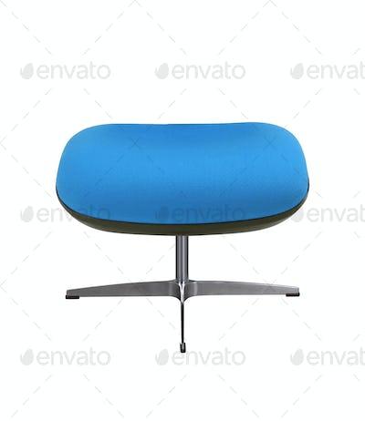 blue stool isolated on white