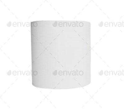 Simple toilet paper on white