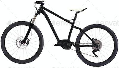 mountain bike isolated on white