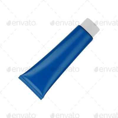 The dark blue tube