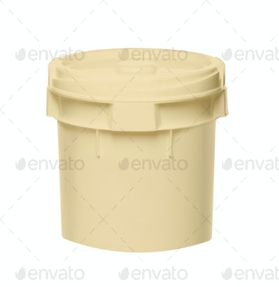 White Tub Plastic Bucket Container