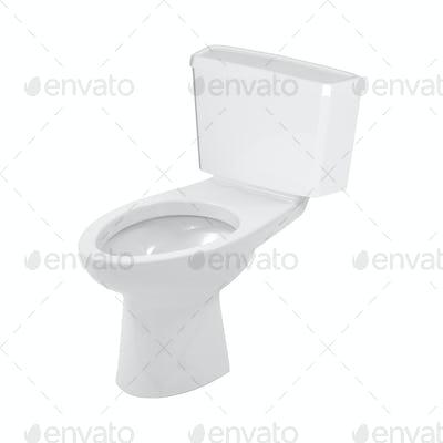 toilet bowl on a white background