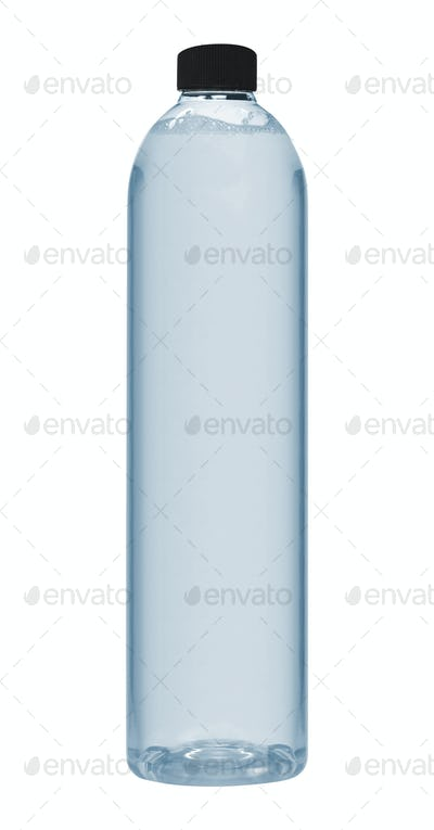 Plastic bottle of drinking water isolated