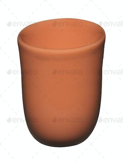 Ceramic pot isolated