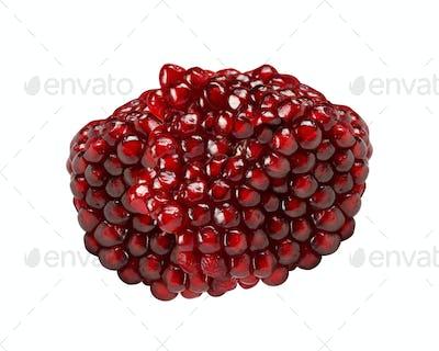 large pomegranate isolated