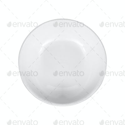Empty plate - isolated on white background