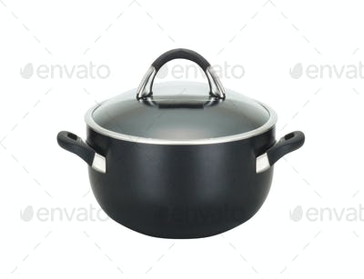 steel pot isolated on white