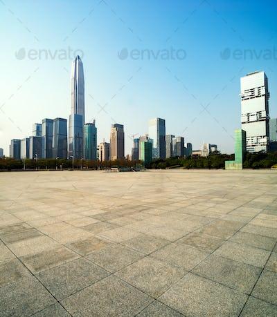 The city square