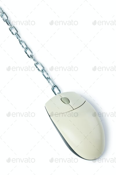 computer mouse with chain