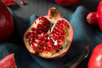 Raw Red Organic Pomegranates