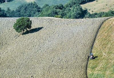 Landscape in Montefeltro near Urbania (Marches, Italy)