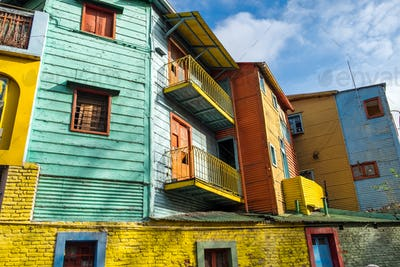 The colorful houses of Caminito Street in La Boca